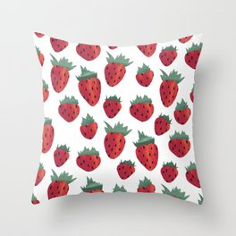 Strawberry Cheesecake Throw Pillow