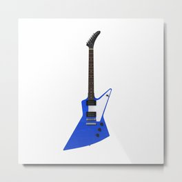 Blue Electric Guitar Metal Print