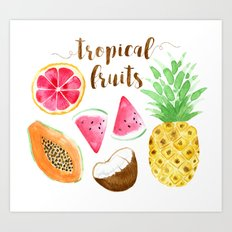 Tropical Fruits Print Art Print