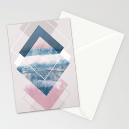 Geometric Textures 10 Stationery Cards