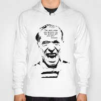 bukowski Hoodies featuring Charles Bukowski Quote Crap by Fligo