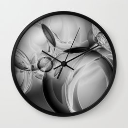 Bubble Noir Wall Clock