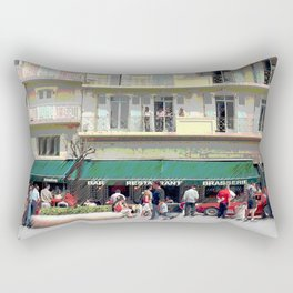 Activity in the Town Square Rectangular Pillow