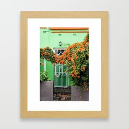 Green Door, Bo Kaap Framed Art Print