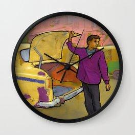 Kolkata Taxi Wall Clock