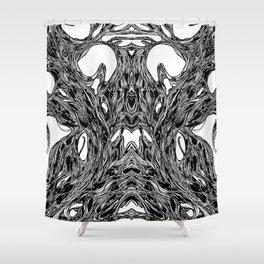 Subconscious Throne of Death  Shower Curtain