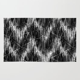 Simple black and white pattern. 2 Rug