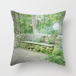 Fairy Bench Throw Pillow