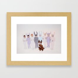 The Bunny Ballet Framed Art Print