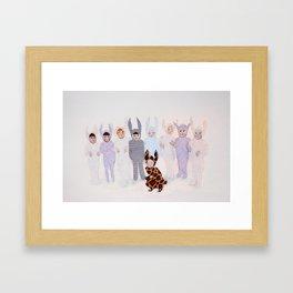 The Bunny Ballet Framed Art Print