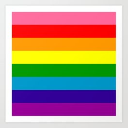 Rainbow Flag (Original Gay Pride Flag Colors) Art Print