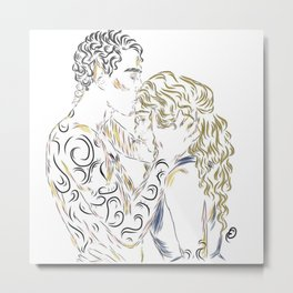 Feyre and Rhys Metal Print