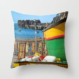 Watching the ships come in... Throw Pillow