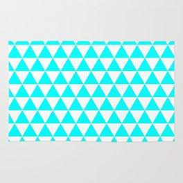 Triangles (Aqua Cyan/White) Rug