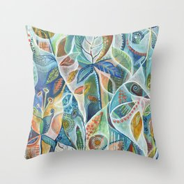 Secret Garden by Justine Aldersey-Williams Throw Pillow