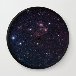Reflection Nebula Wall Clock
