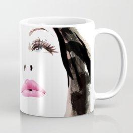 Woman with Hat Portrait, Fashion Painting, Fashion IIlustration, Vogue Portrait, Fashion Beauty, #11 Coffee Mug