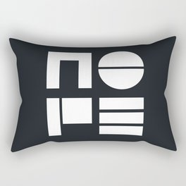 Nope typogaphy Rectangular Pillow