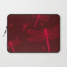 Five Red Dragonflies Laptop Sleeve