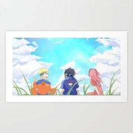 Kawaii Naruto Shippuden v66 Art Print