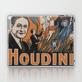 Houdini - vintage poster, spirits Laptop & iPad Skin