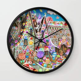 The Gingerbread Mansion Wall Clock