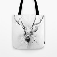 stag Tote Bags featuring Stag by Alexis Marcou