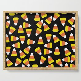 Candy Corn Jumble (black background) Serving Tray