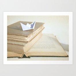 Sailing Through Stories Art Print