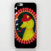 the hound iPhone & iPod Skins featuring smoking hound by Elisandra