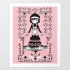 Lady Cake Art Print