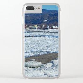 Frozen Beach Clear iPhone Case