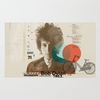 dylan Area & Throw Rugs featuring Bob Dylan by Azlif