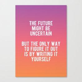 Motivational - Write Your Future Canvas Print