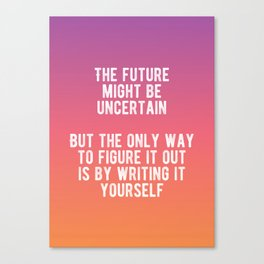 Motivational - Write Your Future Canvas Print