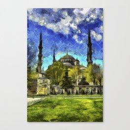 Blue Mosque Istanbul Art Canvas Print
