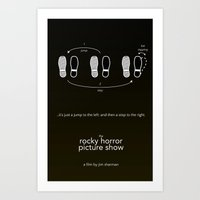 rocky horror Art Prints featuring Rocky Horror Picture Show by design.declanhackett