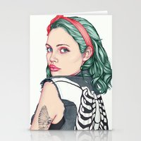 girl Stationery Cards featuring GIRL by Laura O'Connor