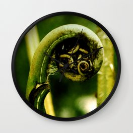Fiddlehead Fern photo Wall Clock