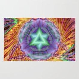 Alteuisha- Abstract Spiritual Fractal Art- Healing Art- Jewish Art- Merrkabbah Art Rug