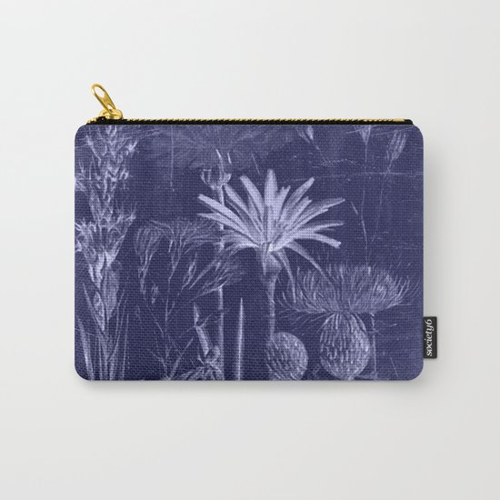 floral cyanotype Carry-All Pouch