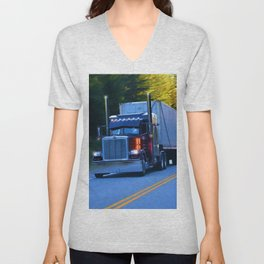 The Revelstoke Run Cargo Truck Unisex V-Neck