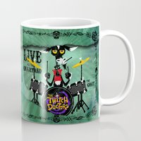 drums Mugs featuring The Goat - Drums. The Twitch Doctors by greenbombstudios