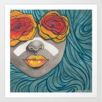indigo Art Prints featuring Indigo by Stefari