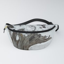 Stumpy and the Rock Wall in Winter White Fanny Pack