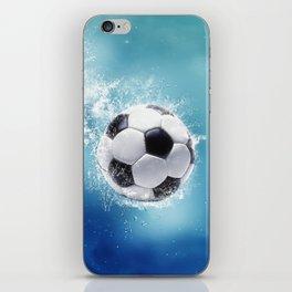 Soccer Water Splash iPhone Skin