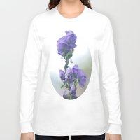 iris Long Sleeve T-shirts featuring Iris by Bella Blue Photography