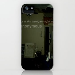 Silence is the most powerful scream. iPhone Case
