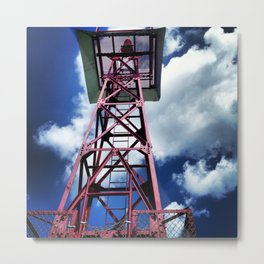 Tower In the Blue Sky Metal Print