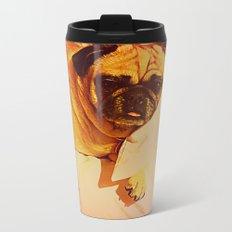 PUG LOVE: Will you bring me breakfast in bed? Metal Travel Mug